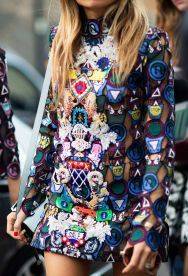 embroidered London fashion week