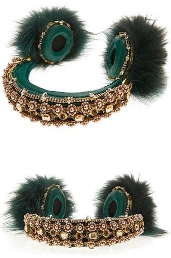 embroidered headphones dolce&gabbana