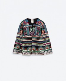 embroidered jacket zara