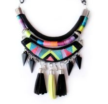 tribal necklace embroidered handmade found on etsy