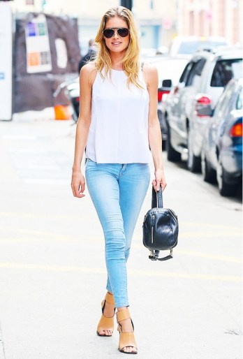 white top Doutzen Kroes