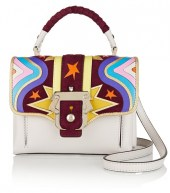 paula cademartoni dun dun mini appliqued leather bag