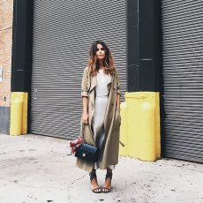 silk slip dress, trench robe