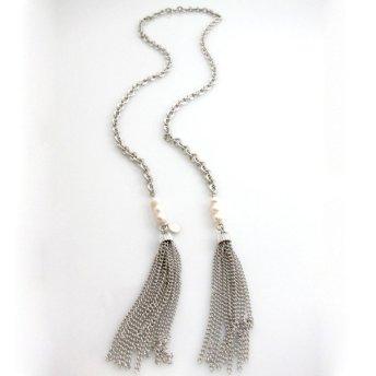 heavy chain tassel lariats and y-necks