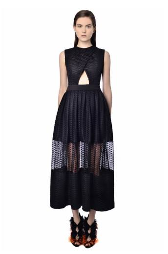 natar georgiou black dress