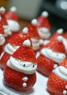 sainta claus strawberries