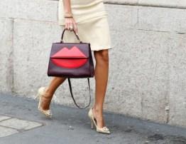funky burgundy bag