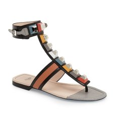 fendi rainbow studded colorblock gladiator sandal