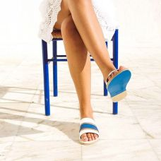 kyma leather sandals
