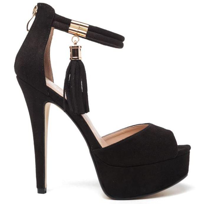 sandal black suede