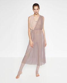 contrast tulle dress zara