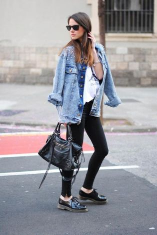 oversized with oxfords