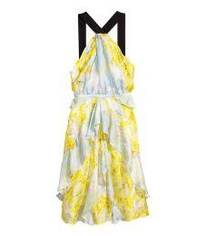 H&M silk chiffon dress
