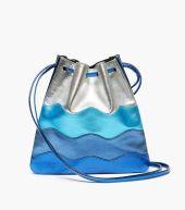 sandro jilou metallic handbag