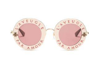 l'aveugle par amour metal sunglasses by gucci