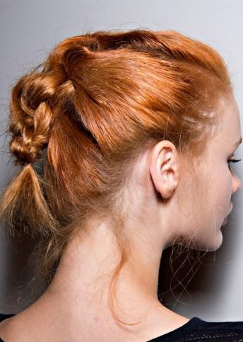 slept on braided ponytail