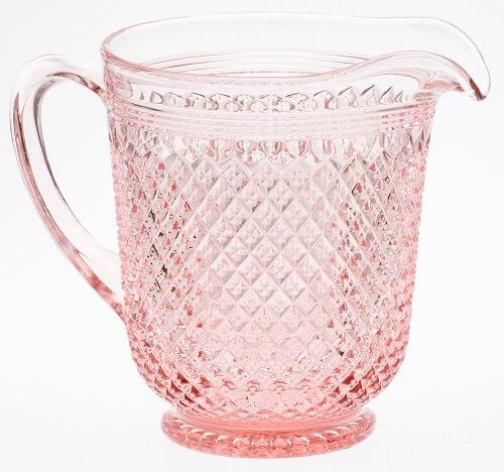 Pink-Quilted-Glass-Pitcher