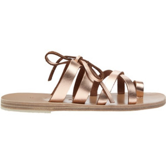 skiathos metallic leather sandals