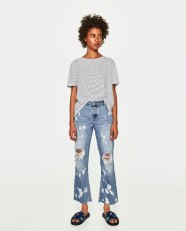 relaxed fit mid rise jeans