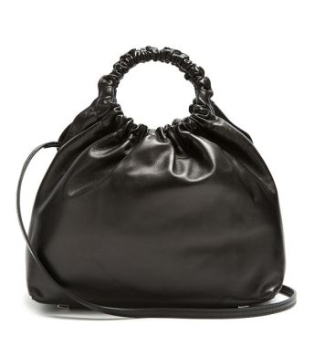 the row double circle medium leather bag