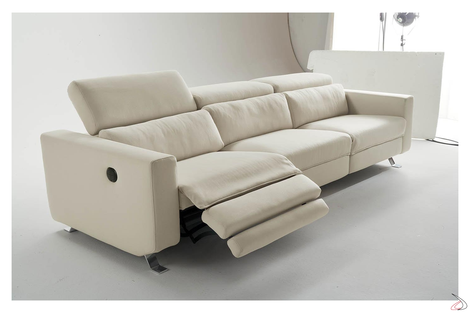 Cirillo Electric Recliner Sofa Toparredi Arredo Design - Divano 3 Posti Recliner