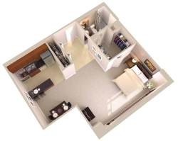 Small Of Efficiency Apartment Floor Plan