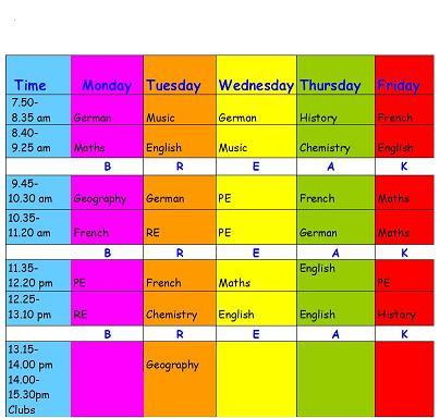 How to organise a study timetable TopButton - study timetable