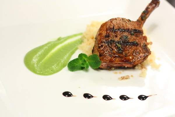 lamb with peas