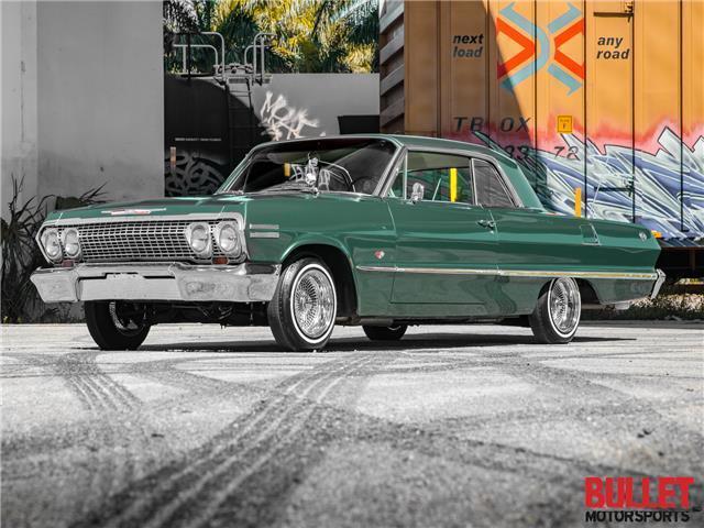 1963 Chevrolet Impala SS, Green w/ Matching Interior, Power Steering