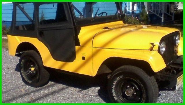 1969 Jeep CJ5 4X4 SUV, 215ci V6, 3-Speed Manual Transmission, 4WD