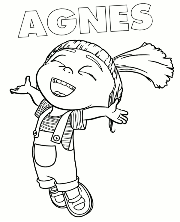 Minions coloring page 8 to print and color for free