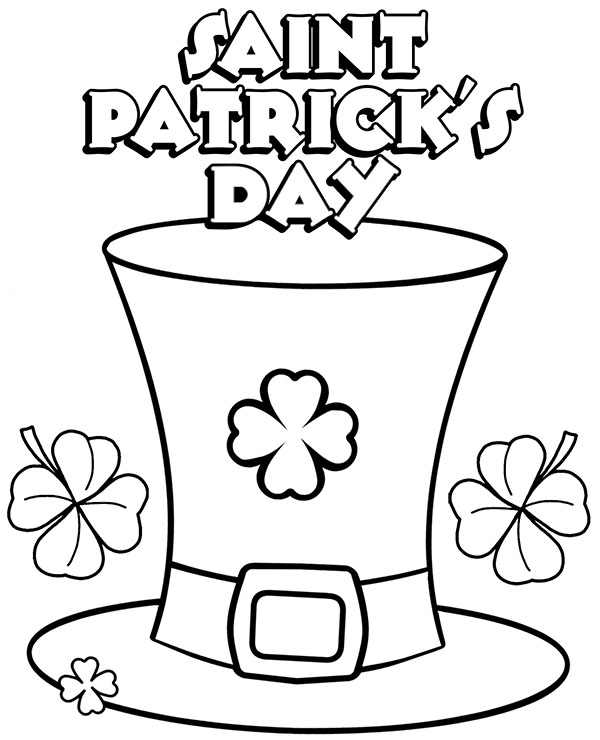 Saint Patrick\u0027s Day coloring page sheet for children