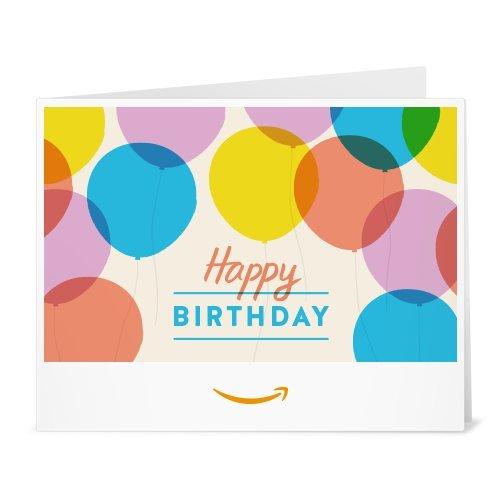 Amazon Gift Card \u2013 Print \u2013 Happy Birthday Balloons