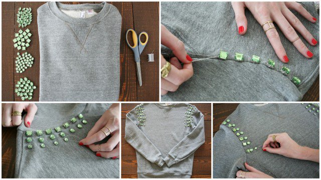 18 Fashionable Sweater Makeovers - Diy Kleidung