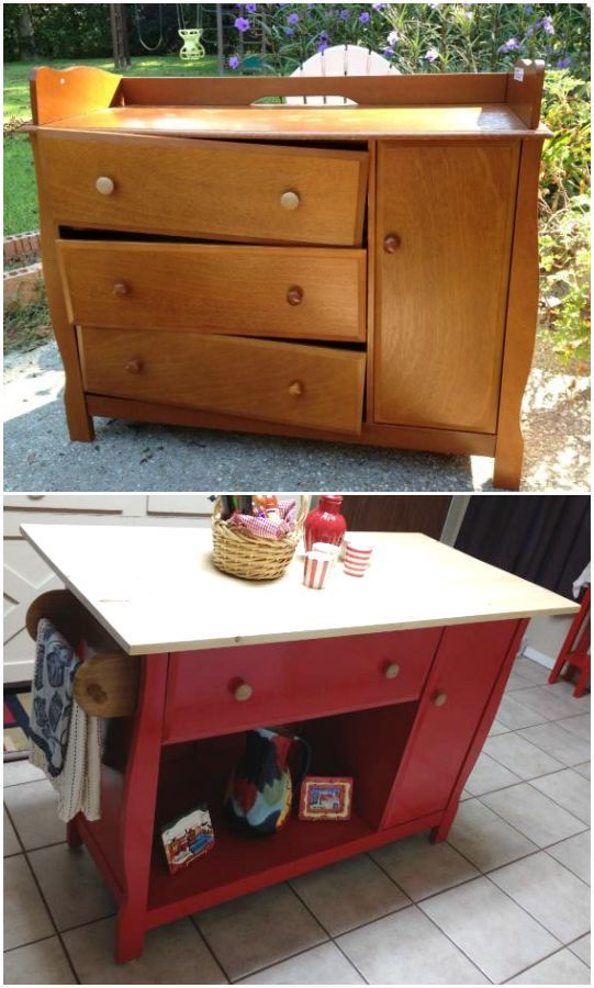 Kitchen Storage Island Cart 14 Smart Ways To Repurpose Changing Tables You Should Not Miss