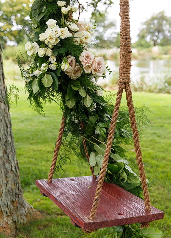 Wedding Decoration Ideas Flower Swing Decorations For The Most Romantic Garden Party