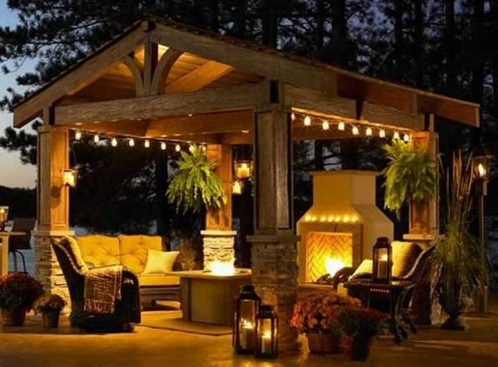 Pathway Lighting Design Ideas Pergola Lights Add Up To The Romantic Look Of The Outdoors