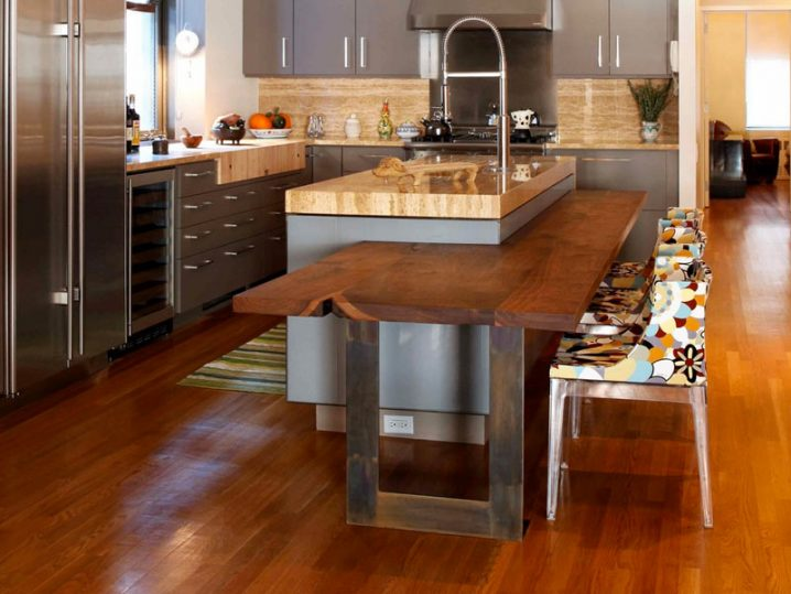 Kitchen Island With Barstools 15 Space-saving Kitchen Islands With Tables You Need To See