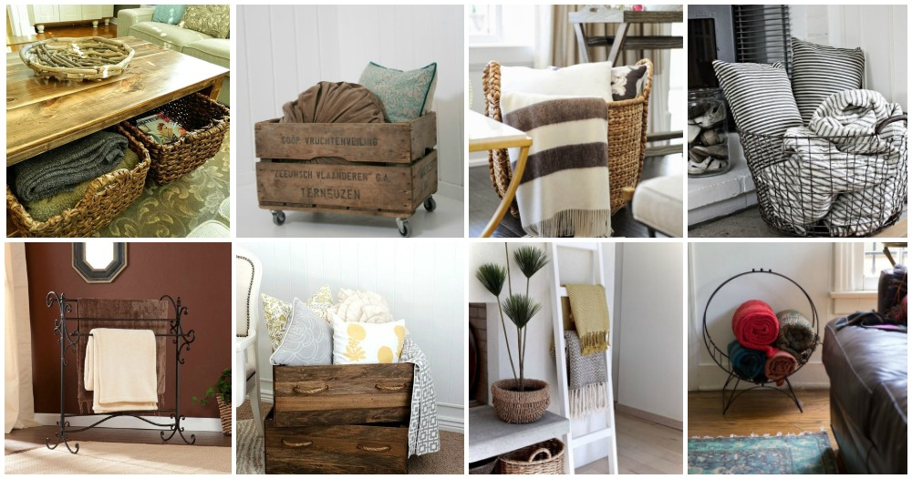 Bathroom Decor Pinterest How To Store Blankets In The Living Room In A Cool Way
