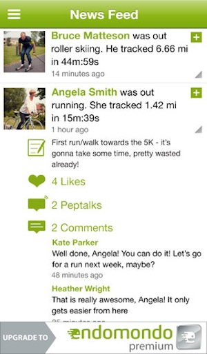 Endomondo Sports Tracker Screenshot2