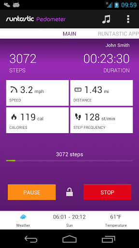 Runtastic Pedometer Screenshot