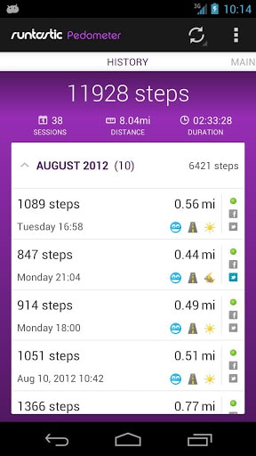 Runtastic Pedometer Screenshot2