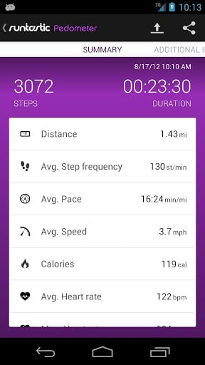 Runtastic Pedometer Screenshot5