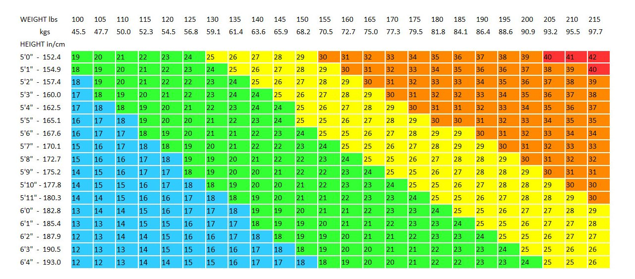 Free BMI Chart Templates Download Top Form Templates Free