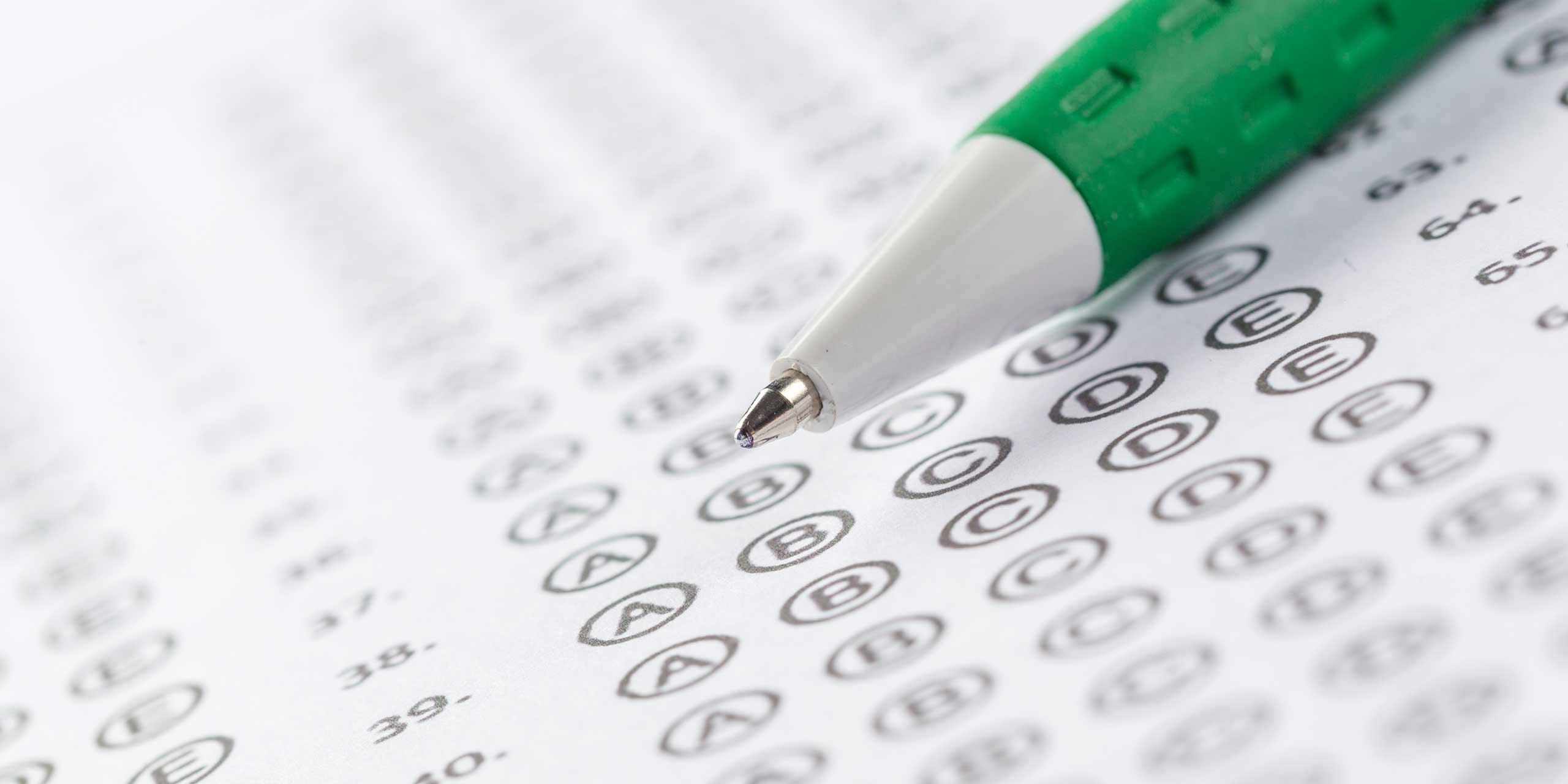make a multiple choice test
