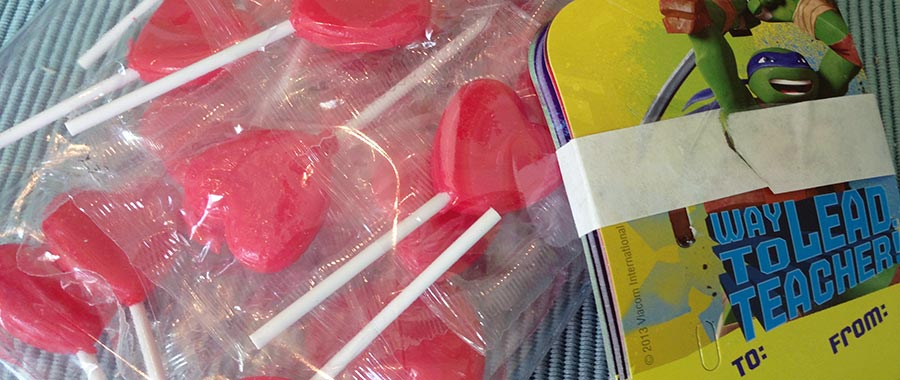 TMNT Valentine Candy Card Kit