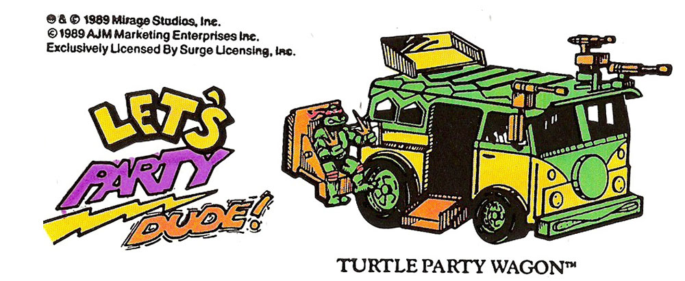 1989 TMNT Stickers