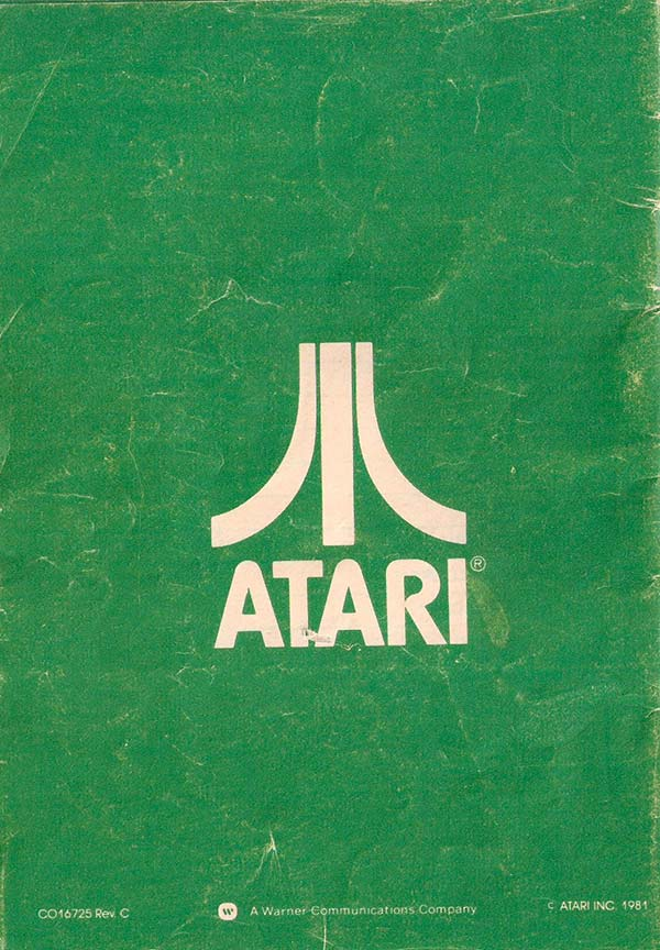 Atari Catalog Back Cover