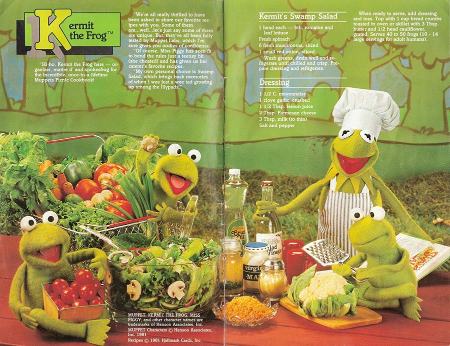 Muppet Picnic Cookbook Pages 1-2