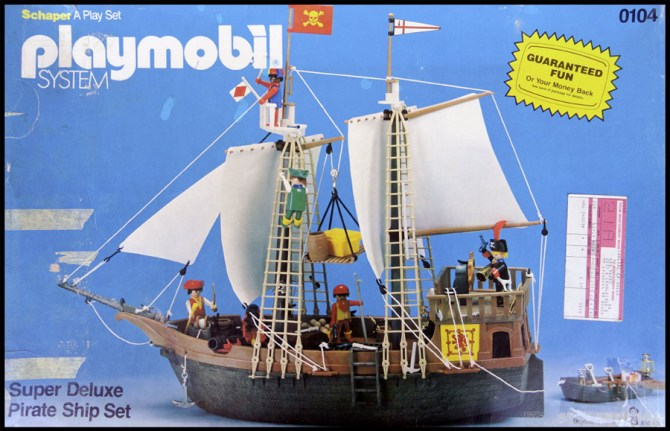 Vintage Playmobil Pirate Ship